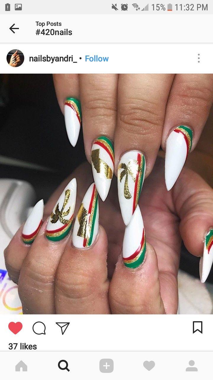 Rasta Nails Design : rasta, nails, design, Rasta, Nails, Nails,, Cruise