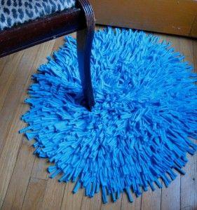 decoro sin decoro: Reciclar camisetas en alfombras