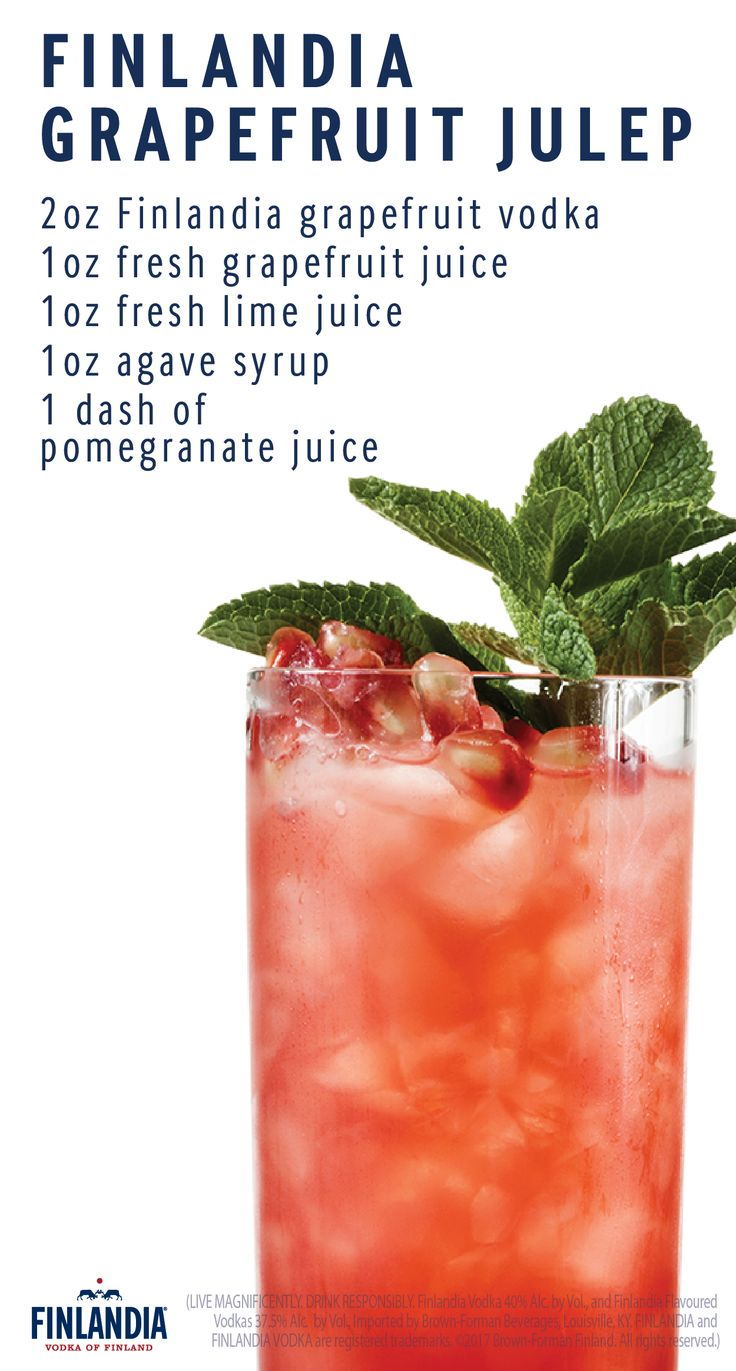 A Finlandia Grapefruit Julep is a delicious cocktail to make for your friends during happy hour. Vibrant in color and full of flavor, this sweet and tasty recipe is sure to be enjoyed by all of your coworkers and friends.
