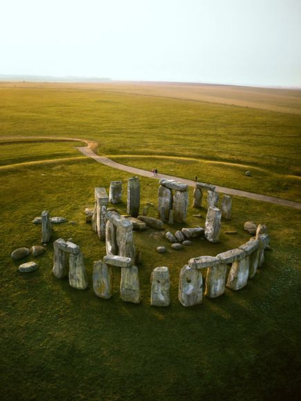 Stonehenge, Wiltshire county, UK the world's most famous prehistoric monument. People around the world consider it as a sacred site and they associate the ceremonial place with the super natural world