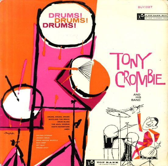 vintage album cover – Tony Crombie Drums! Drums! Drums!