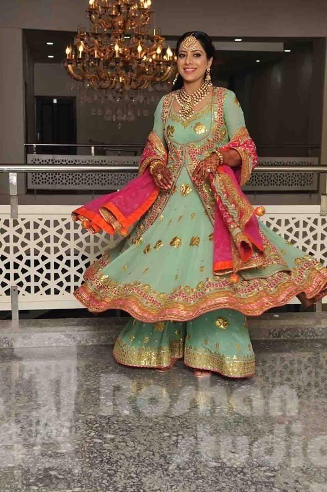 Gota Patti Anarkali Indian Bridal Wear Indian Dresses