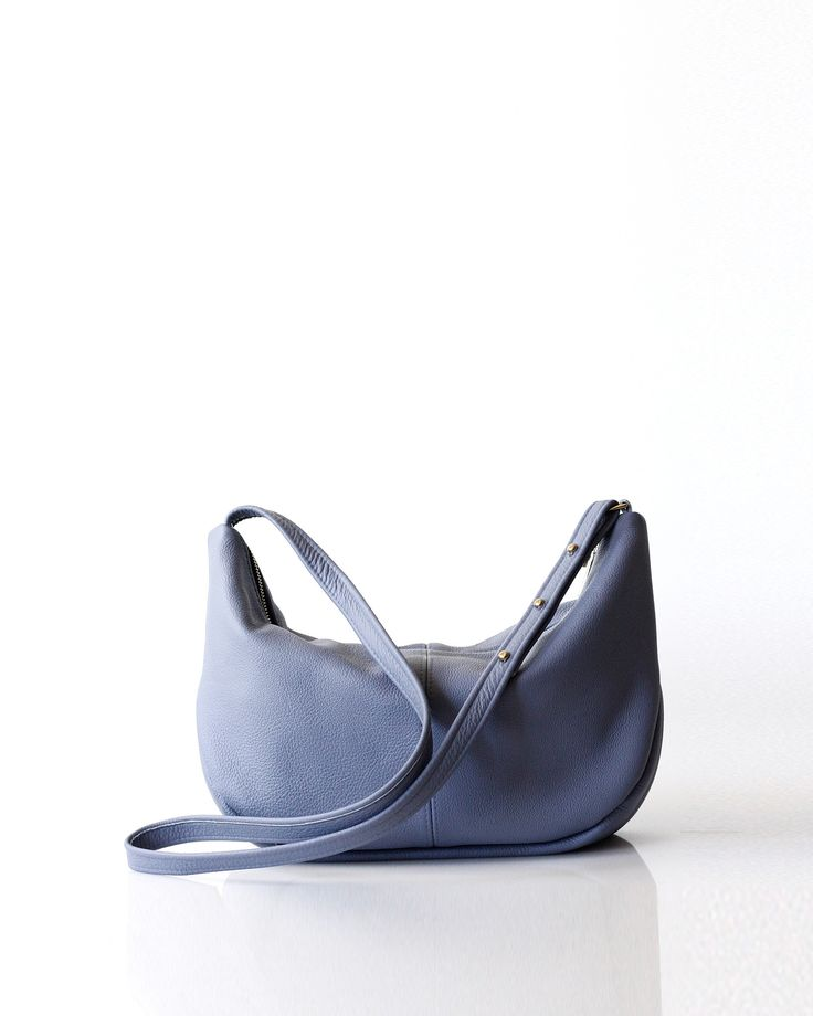 Roberta Sling | Washed Blue - Opelle bag SS17 - Opelle leather handbag handcrafted leather bag toronto Canada