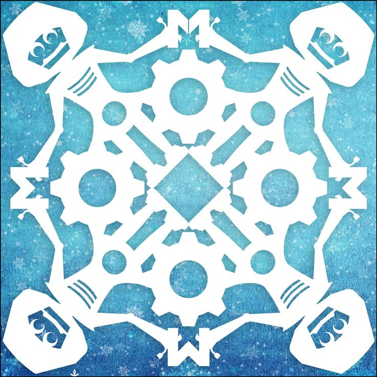 beautiful snowflakes. make your own with this guide: henrikelode.com/MachineersSnowflakes.pdf
