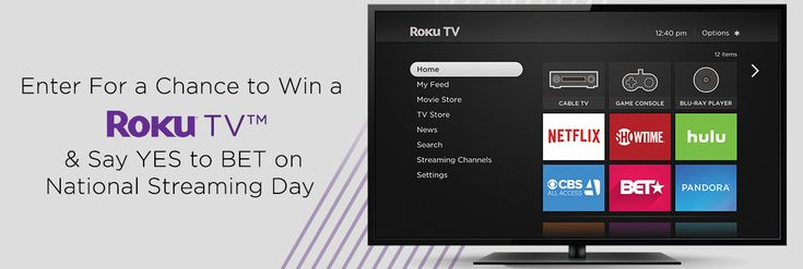 Say Yes to BET !  Enter for a chance to win a Roku TVTM   Tired of using the small screen on your smart phone to watch TV? Now you can stream your favorite shows on a new Roku TVTM.    Enter by 11:59PM ET on May 28, 2017.  Want more chances to win? Enter the sweepstakes and share your special referral link with friends.   No purchase necessary. Void where prohibited. Begins May 15, 2017 at 10:00AM and ends May 28, 2017 at 11:59 PM ET. Open only to legal residents of the 50 US and DC, at…