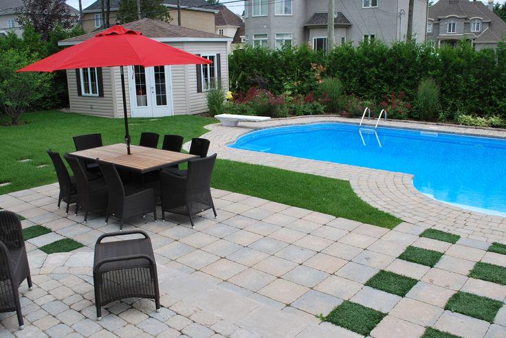 Les 24 meilleures images propos de piscine pool sur for Amenagement exterieur piscine creusee
