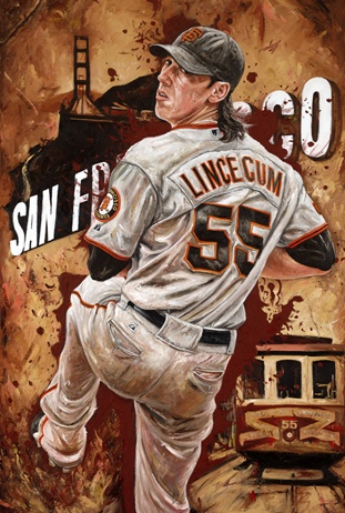 "Tim Lincecum of the San Francisco Giants""Torque Power"" by Justyn Farano."