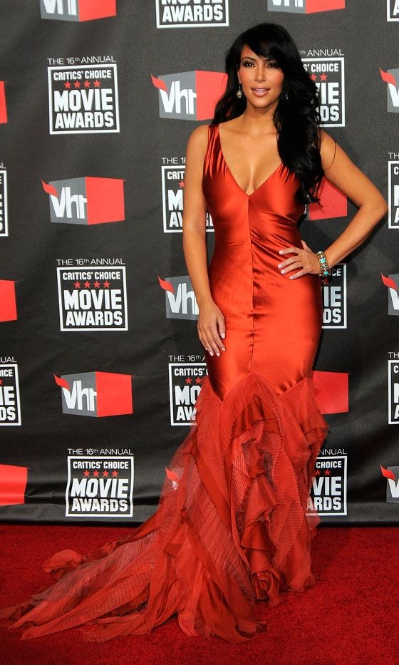 Red dress kim kardashian quickie