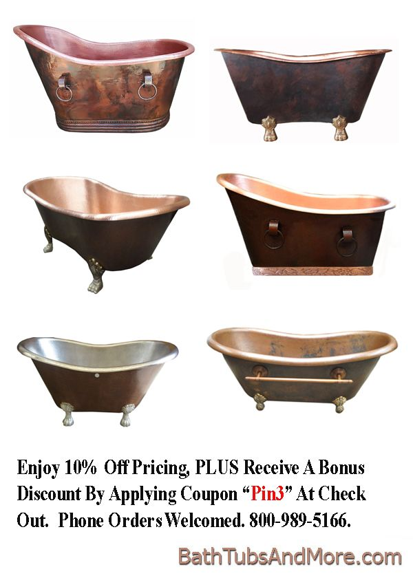 Bath Tubs And More Offers 12 Gauge Copper Bath Tubs Custom Build To Any Size 16 Patina Finishes To Mix Match Copper Bath Diy Bath Products Copper Bathtubs