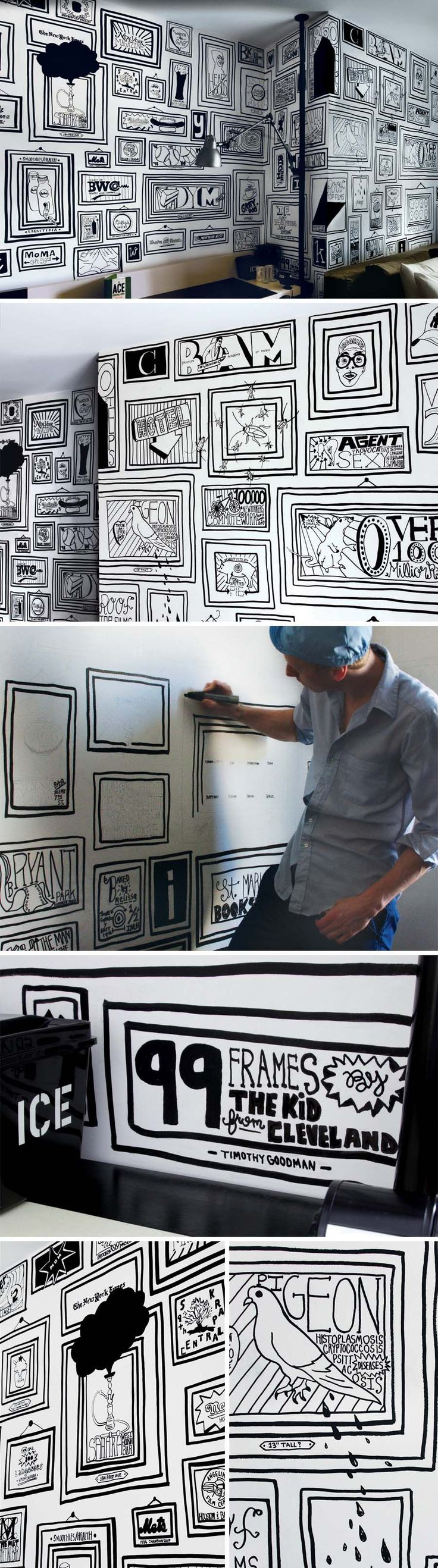 best 10 timothy goodman ideas on pinterest wall drawing ace hotel mural by timothy goodman writing on the walls 2009