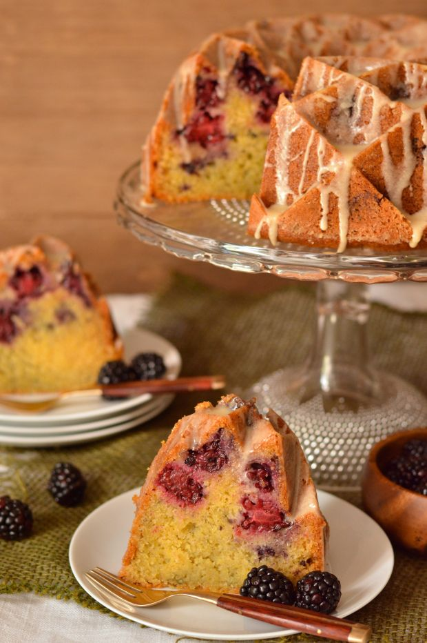 "Honey Glazed Blackberry Cornmeal Bundt Cake ~ via this blog, ""Brooklyn ..."