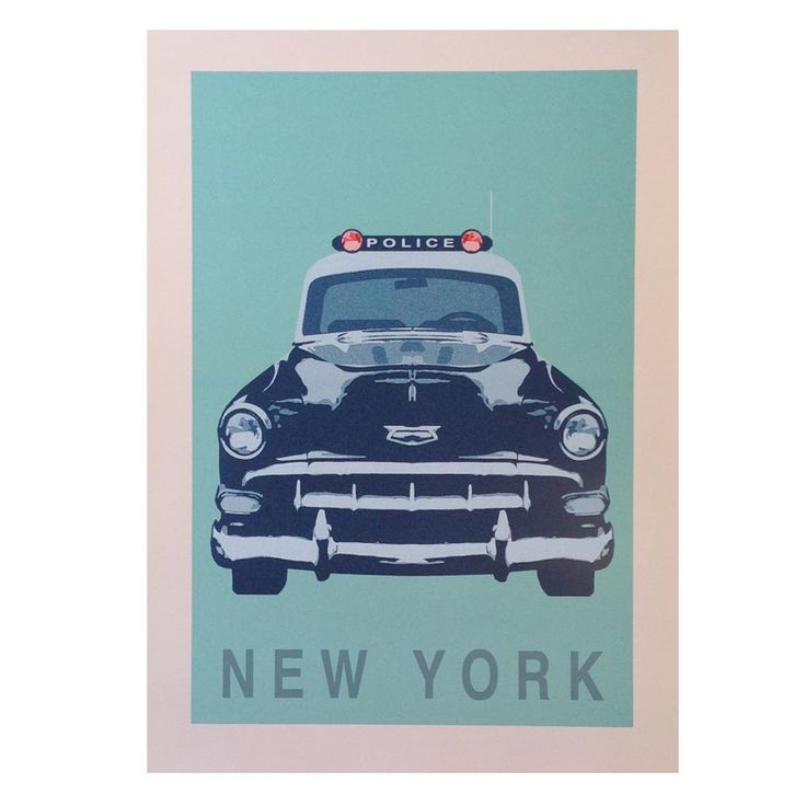 New York Police Car Art Print - hardtofind.