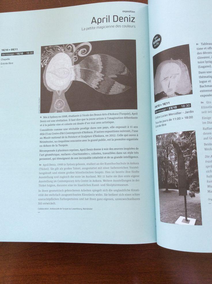 """April Deniz CALYPSO sergisinin CCRN'nin """"De Gudde Grond"""" 6 aylık dergisindeki tanıtımı"""