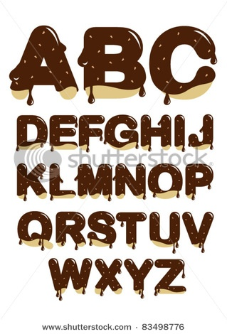Stock Vector Illustration:  chocolate font