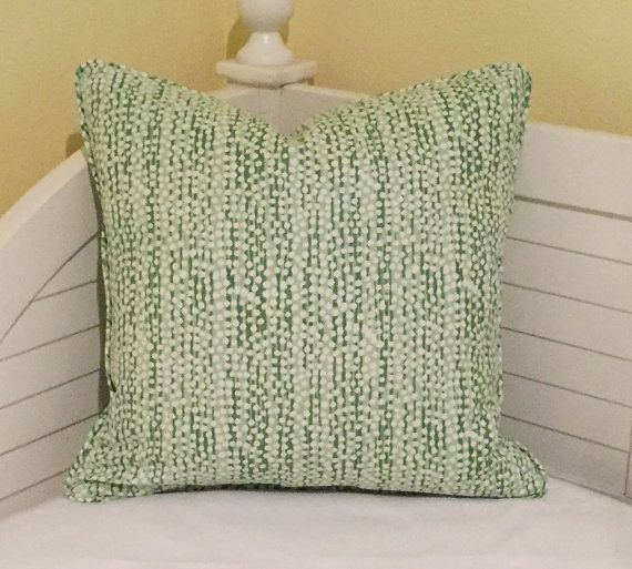 Quadrille China Seas Adam Campbell Mojave Soft Greens Designer Pillow Cover with Piping - Square, Lumbar and Euro Sizes
