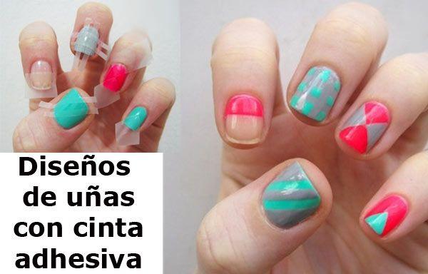 Diseños de uñas con cinta adhesiva - UñasDecoradas CLUB