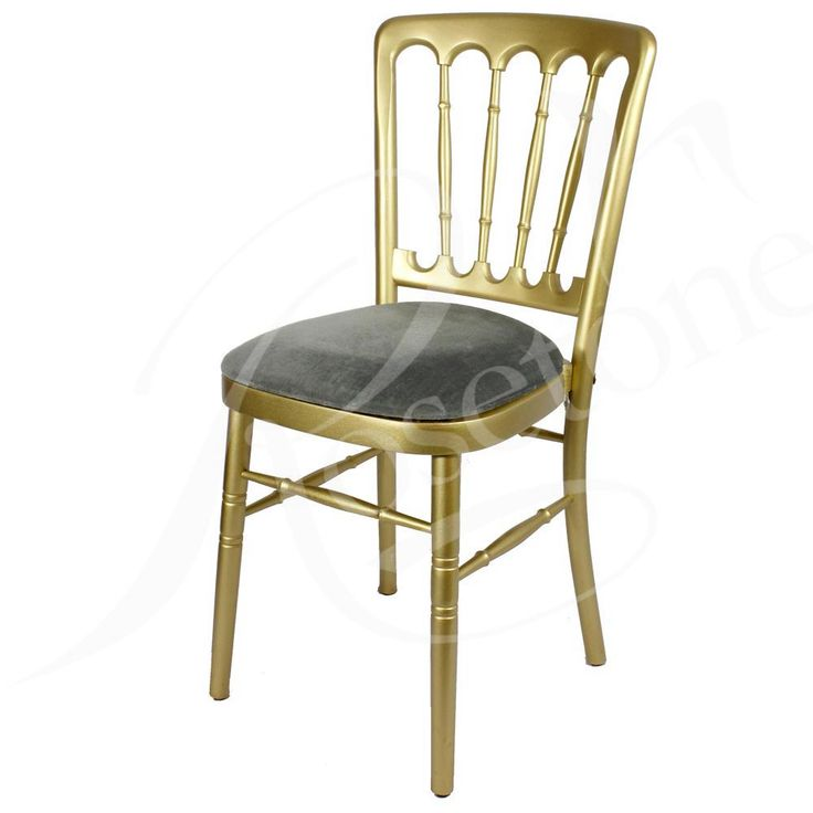 Gold Bentwood with Grey Silver Pad. Popular Gold Wedding Chair Cheltenham Style Grey Silver Theme
