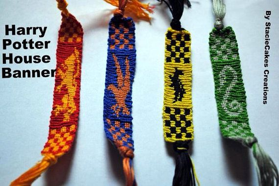 House Banner Friendship Bracelet, $10 each | Community Post: 56 Totally Wearable Harry Potter-Themed Accessories