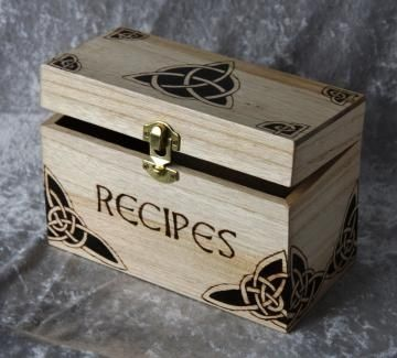 Recycle Reuse Renew Mother Earth Projects: Make a Celtic Recipe/ Blessing Box. Also has printable celtic knotwork designs