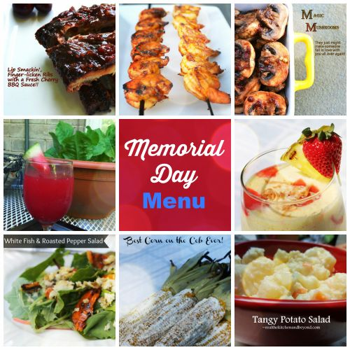 Memorial Day Menu and party planning central