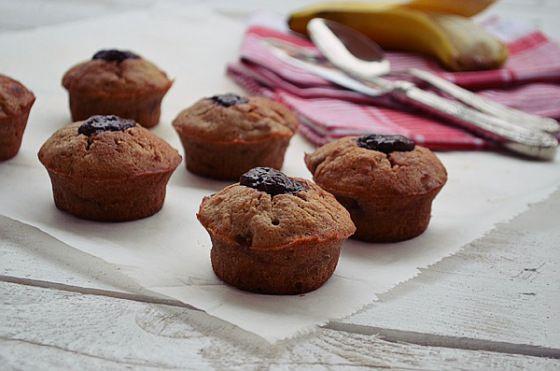 Chocolate, Banana, Muffins