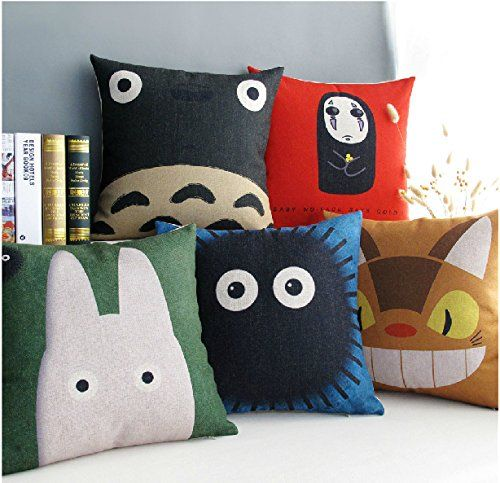 1 Piece of Creative Home Cute Totoro Film Japan Style Bedding Sofa Cushion Cover Pillow Case Pillowcase PGP/Home http://www.amazon.com/dp/B00P882TOE/ref=cm_sw_r_pi_dp_dr-Pvb083KNCB