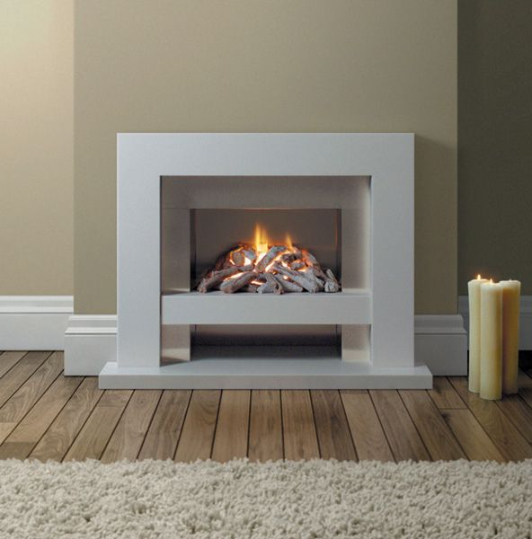 modern fireplace mantel | ... Slab 22 - gas Fireplace - classic design - simple modern elegance - op