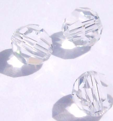 Buy SWAROVSKI  3mm FACETED ROUND BEAD- CRYSTALfor R1.80