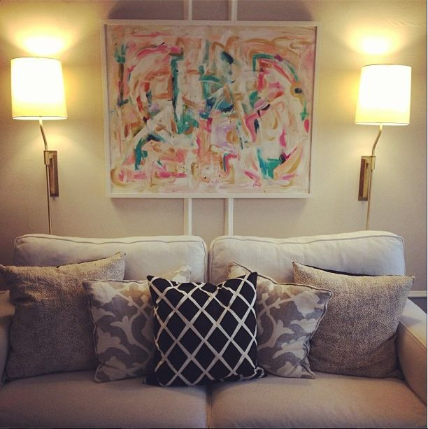 Wall Sconces Over Couch : plug-in wall sconces for over the couch? Lights Please Pinterest Sconces, Wall Sconces and ...