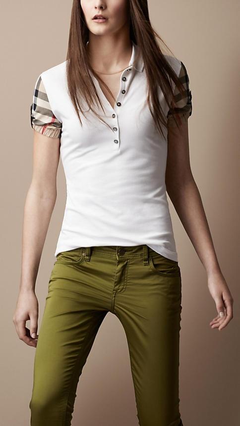 Check Sleeve Polo Shirt | Burberry
