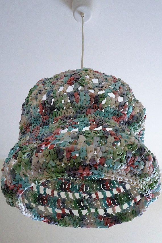 Crochet Pendant Light Knitted Seiling Shade Crochet by YellowByZoe