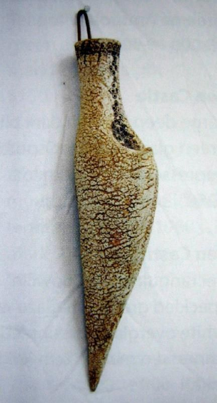 Len Castle, 'Horn' hanging form in oxide rubbed stoneware.…