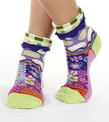 Queen women's cotton turn-over crew socks   Designed in France by Dub & Drino