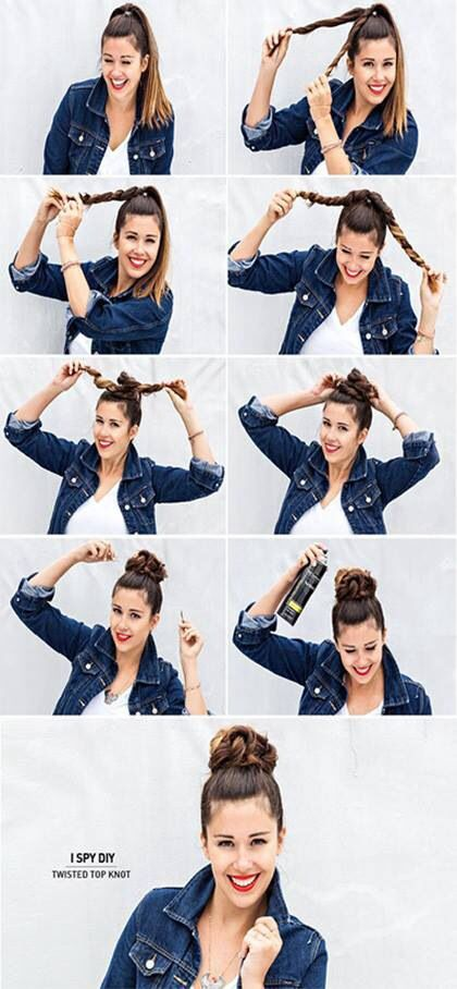 This is a simple way to get that perfect bun. *When you take it out, it will be wavy the next day!!