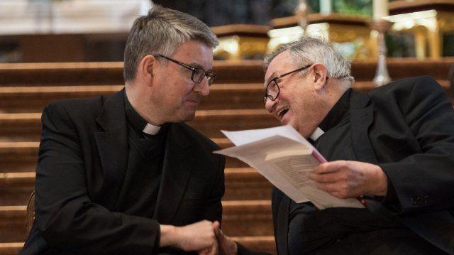 Peter Kohlgraf und sein Vorgänger Kardinal Karl Lehmann