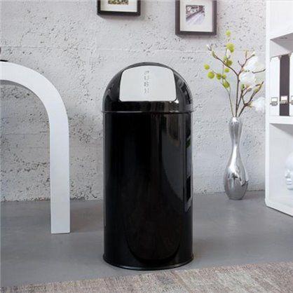 Kosz na śmieci PUSH CAN czarny