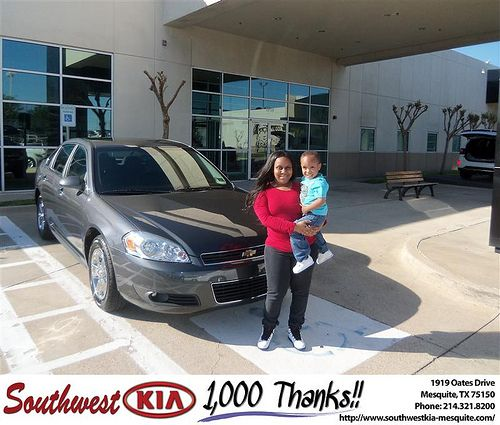 Southwest Kia of Mesquite would like to say Congratulations to Treasa Gee on the 2010 Chevrolet Impala