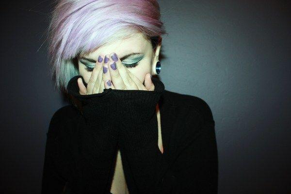 Lavender Smash: Hair Ideas, Hair 3, Hair Make Up Nails, Shorts Hair, Hairstyle Make Up Inspiration, Makeup, Hair Style, Lavender Hair, Dreamy Hair