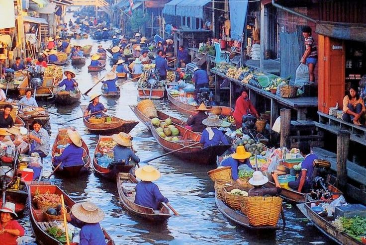 floating market chang mai thailand   Floating Market Bangkok Wallpaper   Walltor