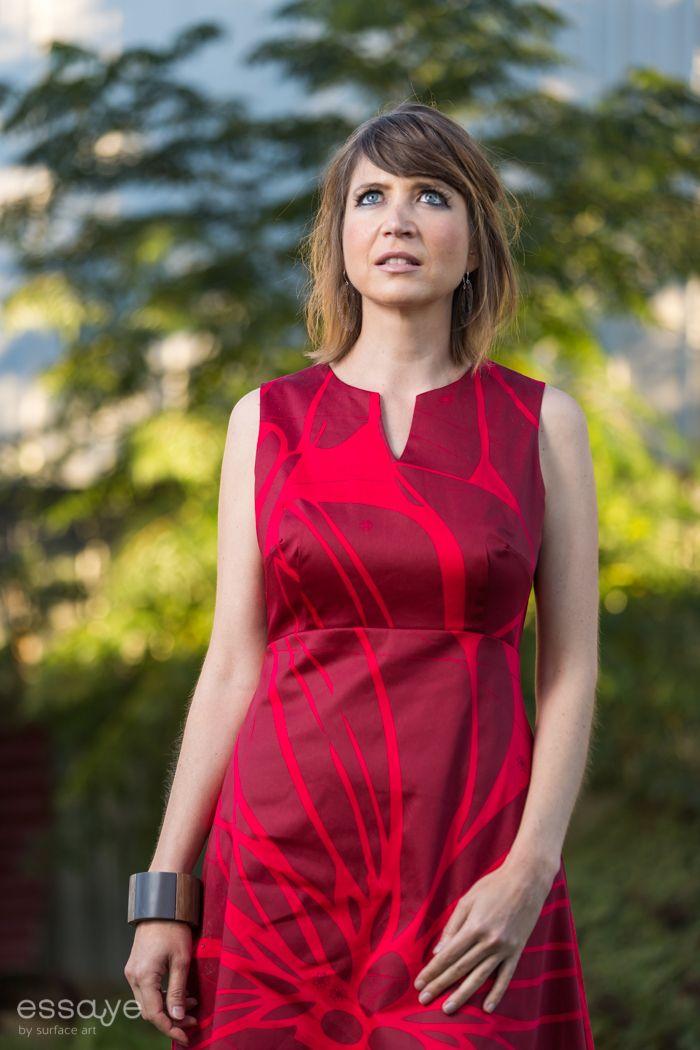 Surface Art - Betty Dress - Bloom (red/dk red), $185.00 (http://www.surfaceart.com.au/betty-dress-bloom-red-dk-red/)