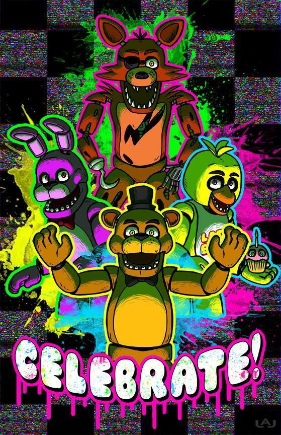 Fnaf celebrate celebrate poster freddy s poster fnaf poster five