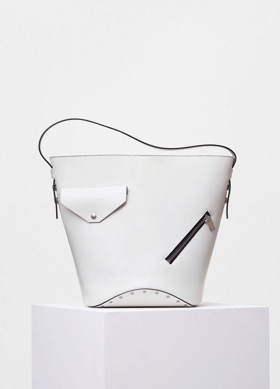 Biker Bucket Bag in Natural Calfskin - Céline