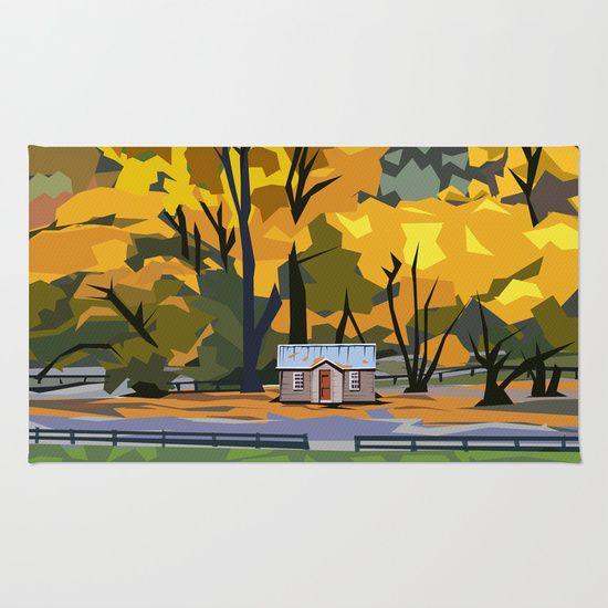 Golden Arrowtown Area & Throw Rug $28 http://society6.com/product/golden-arrowtown_rug#36=288