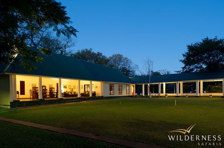 The River Club - This old 1940s homestead has been turned into a charming oasis which brings together early years of adventure on the continent and the discovery of The Victoria Falls to the modern world of conservation in Africa. #Safari #Africa #Zambia #WildernessSafaris