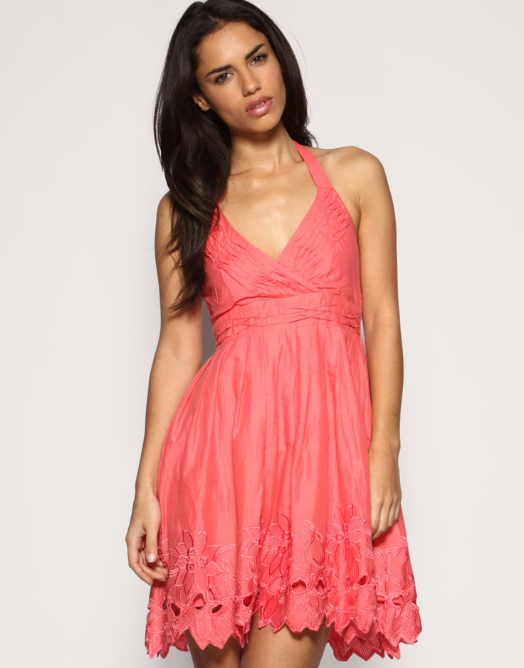 f79075c4b3 Pink Halter Sundress – Fashion dresses