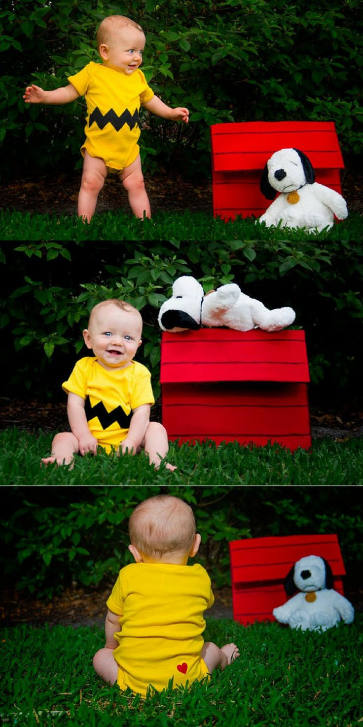 Great Halloween Baby Costume of Charlie Brown! #affiliate
