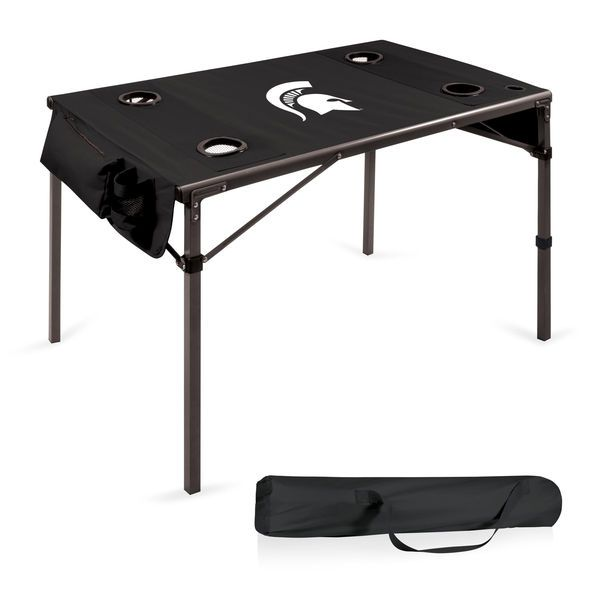 Michigan State Spartans Portable Folding Travel Table - Black - $111.99