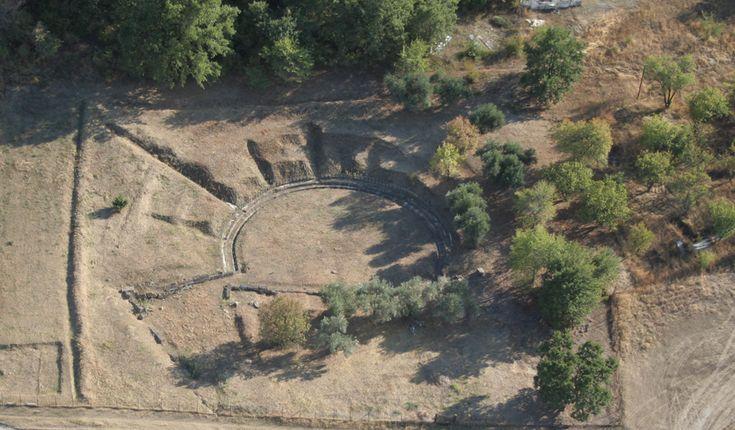 The Aigai theatre   Museum of Royal Tombs of Aigai -Vergina, Macedonia Greece