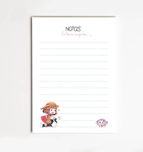 """Bloc de Notas  A6 """"OVEJA"""",Lista de Tareas, Lista de la Compra, Organizador, Papelería bonita"""
