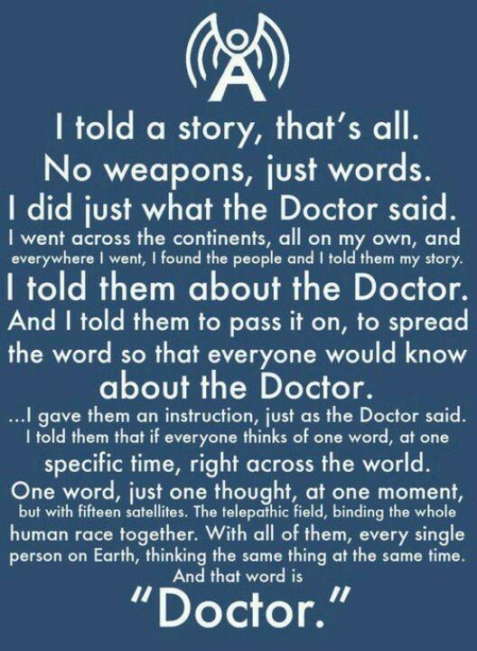 Martha Jones. Doctor Who Speech